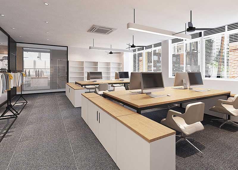 成都办公室装修效果图风格