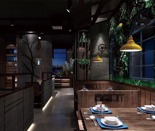 自助餐厅照明主要采用一般照明、混合照明以及局部照明三种方式。一般照明是对自助餐厅室内整体进行照明,不考虑局部的灯光,使就餐环境和餐桌面的光照面积大致均匀。一般规模或者简洁风格的自助餐厅装修经常采用这种照明方式。 混合照明,即由照度均匀的一般照明和针对就餐面的局部照明所组合而成的照明方式。能给自助餐厅装修增加不错的光影效果。 局部照明经常在高端型的自助餐厅撞西中运用,小面积的照亮,吊灯照亮在桌面,烘托了气氛,又使菜品色泽完美。 如果自助餐厅还另外设有包间的话,那么对于它的照明设计,同样也遵循基础照明低,提升